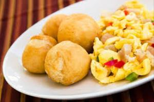Ackee and Salt Fish Dinner