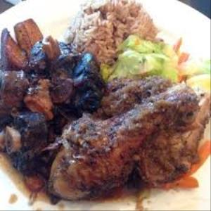 Oxtails with Jerk Chicken